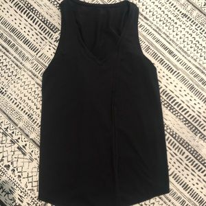 Lululemon V-neck Tank Top with Open Tie Front